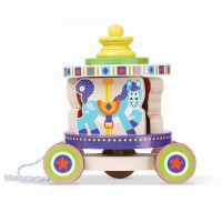 Jucarie de tras tip carusel Melissa and Doug, 7 piese, 18 luni+