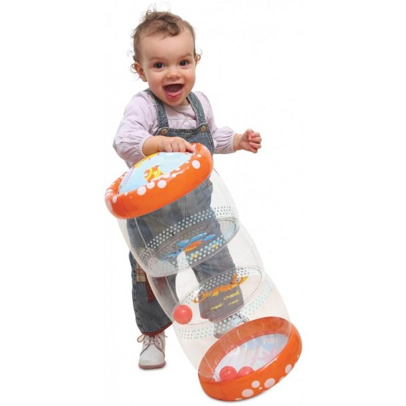 Jucarie gonflabila cu bile Roller baby Ludi, 45 x 20 x 20 cm, 6 luni+ 2021 shopu.ro