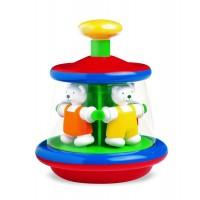 Jucarie interactiva pentru bebelusi Carusel cu ursuleti, stimuleaza coordonarea ochi-mana