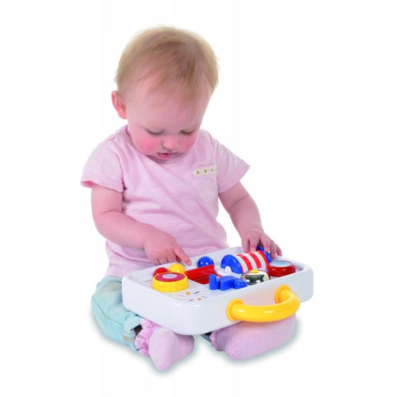 Jucarie interactiva pentru bebelusi Trusa cu activitati Ambi Toys, dezvolta dexteritatea