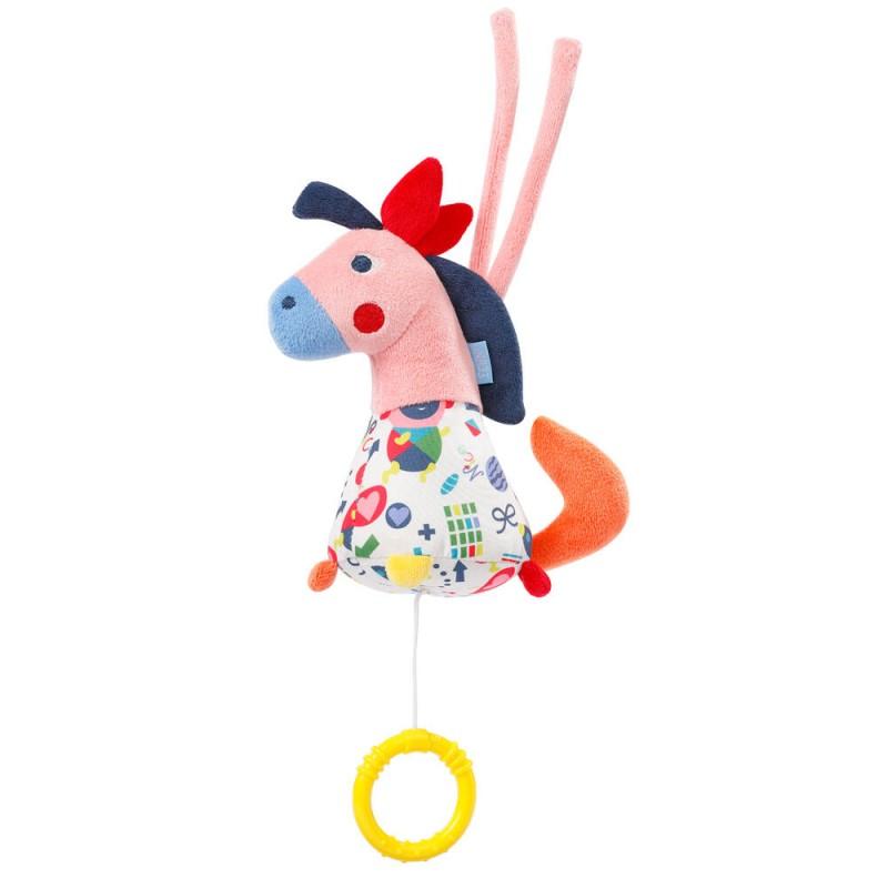 Jucarie muzicala Calut Fehn, velur, 15 cm, 0 luni+, Multicolor 2021 shopu.ro