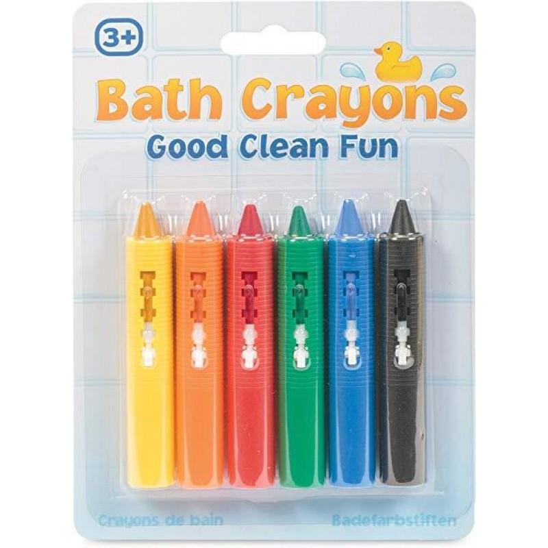 Set jucarii pentru baie Creioane colorate Tobar, 6 piese, 3 ani+ 2021 shopu.ro