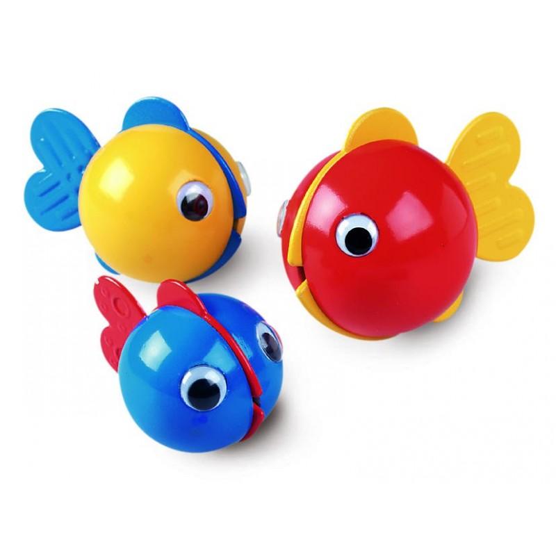 Jucarie pentru baie Ambi Toys Pestisorii nazdravani, 6 luni+