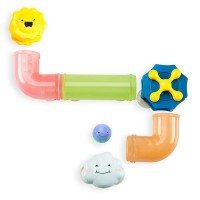 Jucarie pentru baie Slide & Splash, 2 tuburi curbate, 1 norisor stropitor