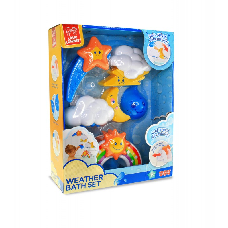 Jucarie pentru baie Vremea Little Learner, 24 x 8 x 30 cm, plastic, 12 luni+, Multicolor