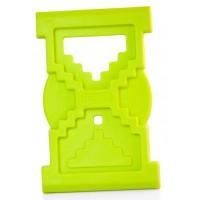 Jucarie pentru dintisori Clepsidra Miniland, 10 cm, Verde