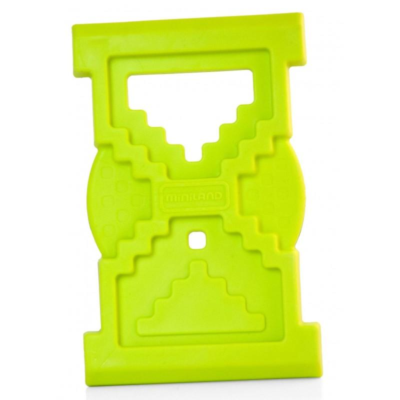 Jucarie pentru dintisori Clepsidra Miniland, 10 cm, Verde 2021 shopu.ro