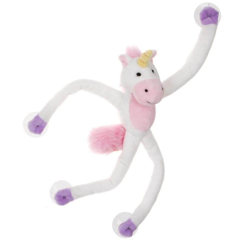 Jucarie plus cu ventuze Keycraft, 20 cm, 3 ani+, model unicorn 2021 shopu.ro