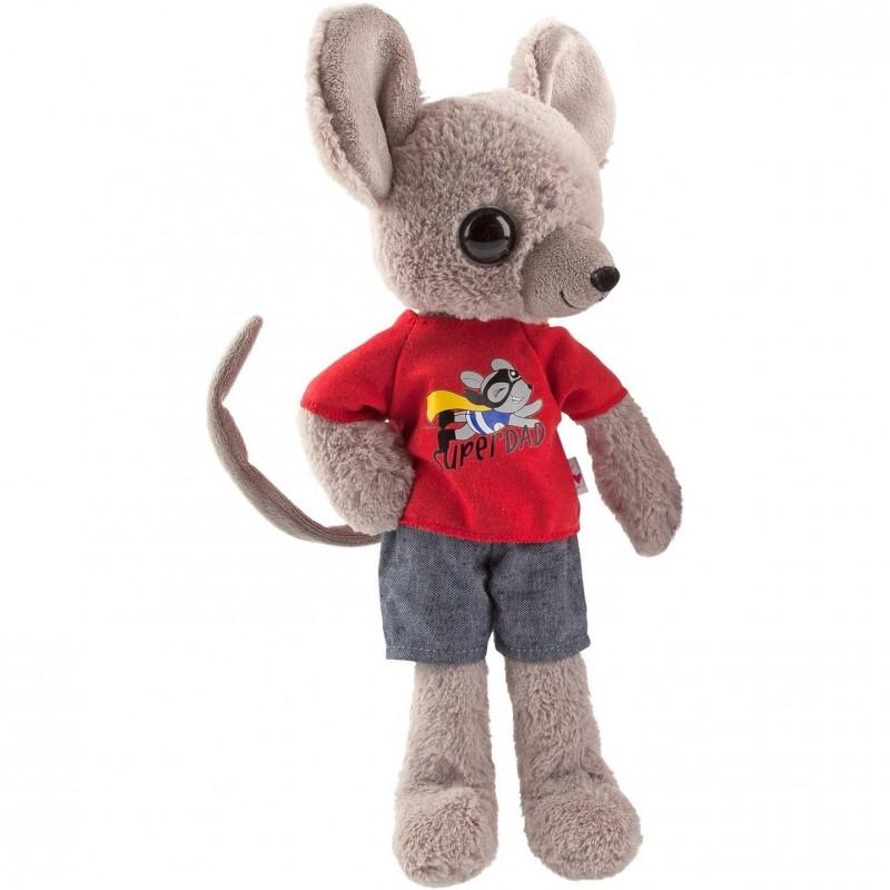 Jucarie de plus Mouse Depesche, 35 cm, 3 ani+, Gri/Rosu 2021 shopu.ro