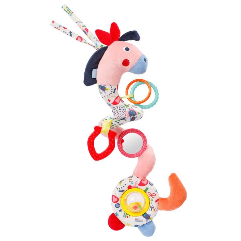 Jucarie pentru patut spirala Calut Fehn, velur, 35 cm, 0 luni+, Multicolor 2021 shopu.ro