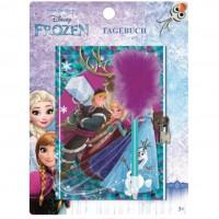 Jurnal Disney Frozen cu lacatel si pix SunCity, 18 x 13 cm, 3 ani+
