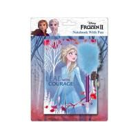 Jurnal Disney Frozen, Ice Magic Memo Book SunCity, stilou inclus, 3 ani+