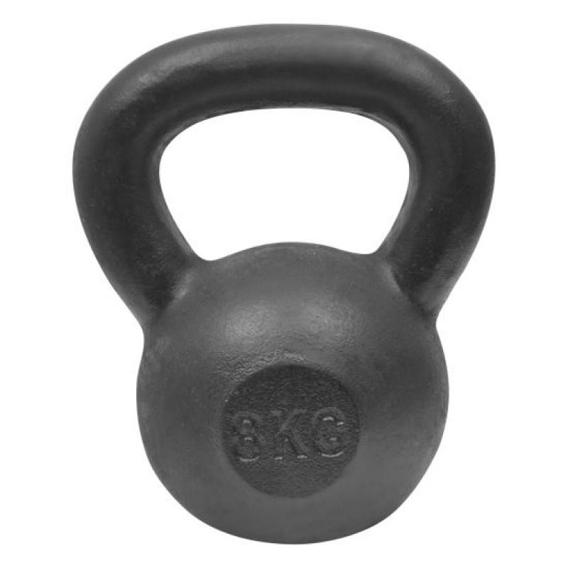 Gantera kettlebell DHS, 8 kg, otel, Negru 2021 shopu.ro