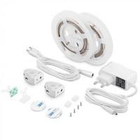 Set 2 benzi LED pentru pat, 260 lm, 3000 K, alb cald, senzor de miscare inclus