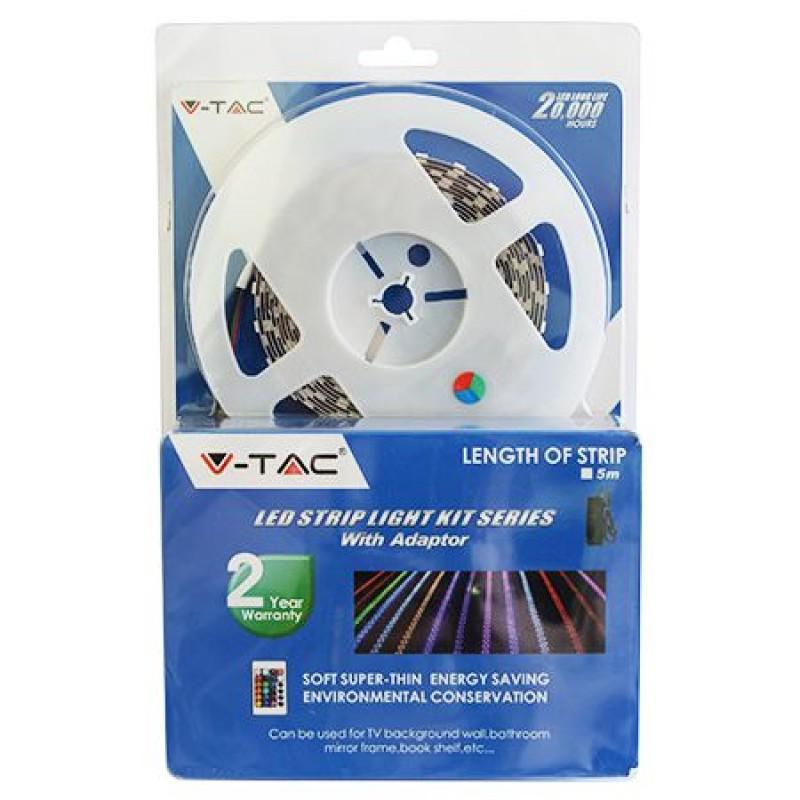 Kit banda V-tac, 60 LED-uri SMD5050, RGB, rola 5 m shopu.ro