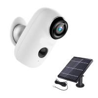 Kit Camera supraveghere de exterior Wi-Fi HeimVision, 1080P, Nightvision, senzor/notificare miscare, acumulator, panou solar