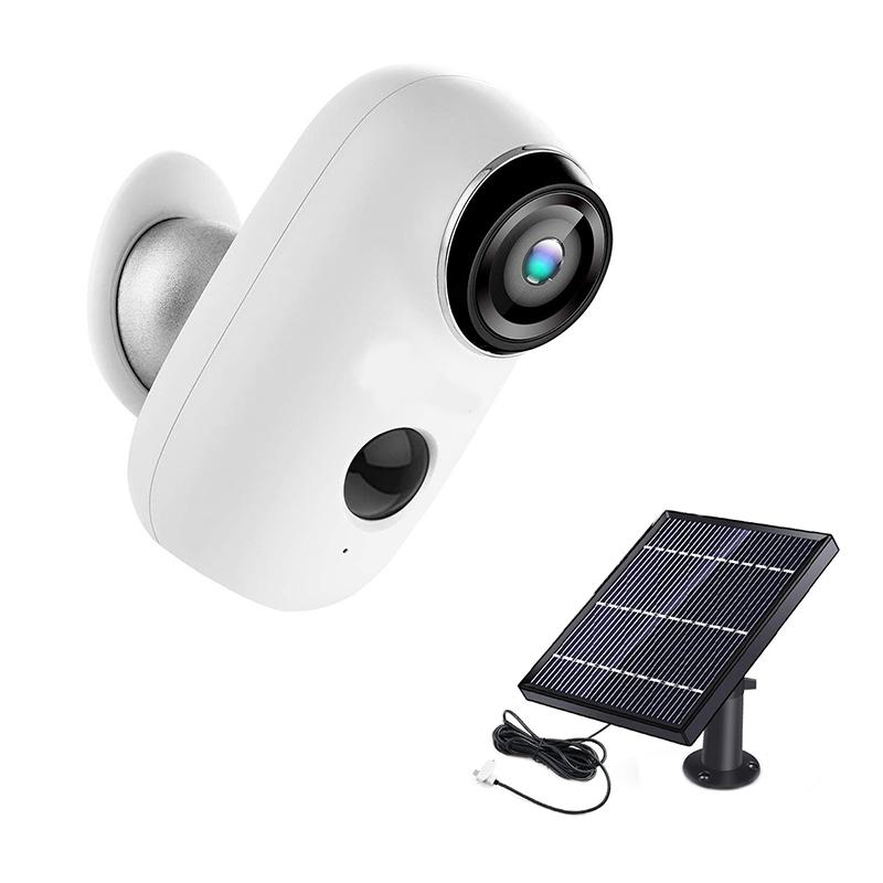 Kit Camera supraveghere de exterior Wi-Fi HeimVision, 1080P, Nightvision, senzor otificare miscare, acumulator, panou solar 2021 shopu.ro