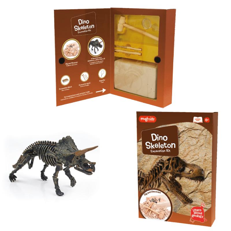 Kit excavare Dinozaur, bloc din ipsos pentru excavat, 25 cm, 10 ani+ 2021 shopu.ro