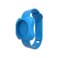 Kit localizator bluetooth de urmarire copii, bratara din silicon Lapa, Albastru