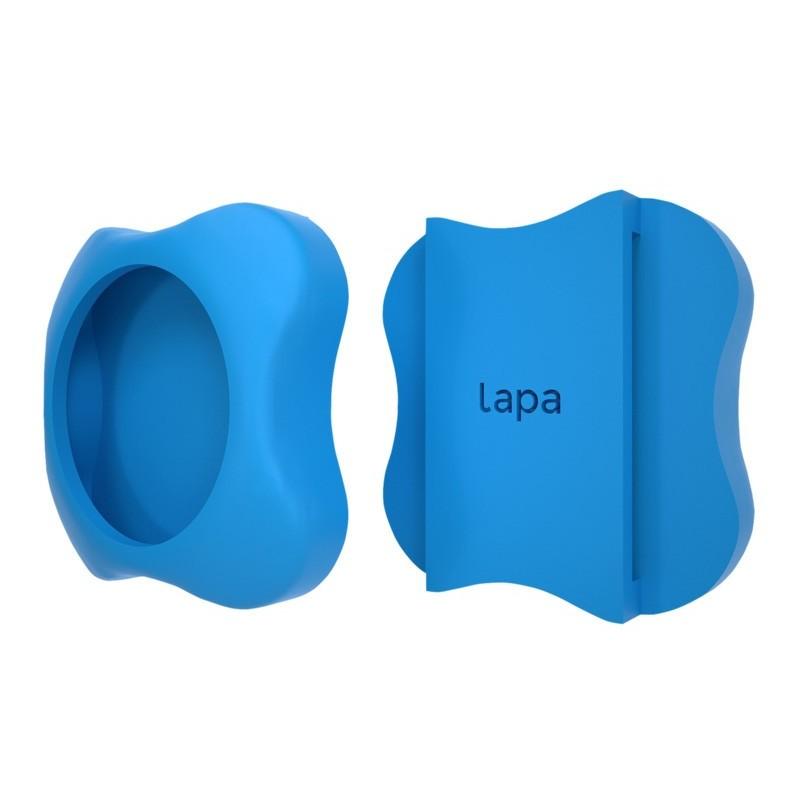 Kit localizator bluetooth Lapa, suport din silicon pentru atasat la zgarda, Bleu