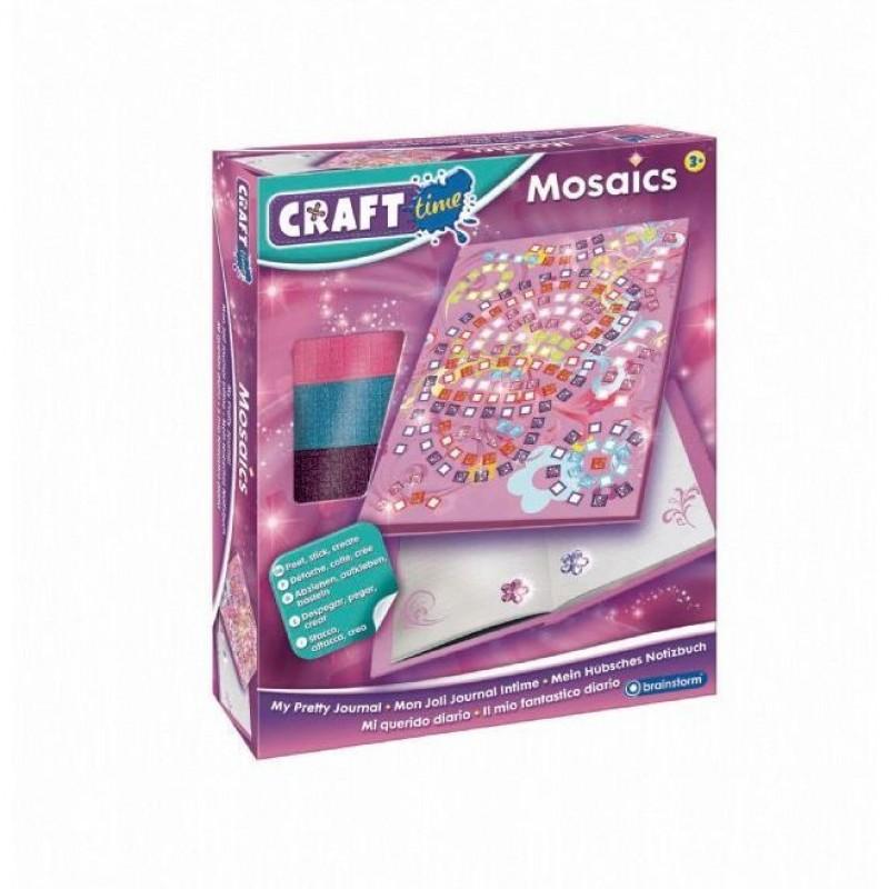 Kit Mozaic Jurnalul meu Secret Brainstorm Toys, 18 x 12 cm, 5 ani+, Multicolor 2021 shopu.ro