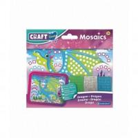Kit Mozaic Mini Dragon Brainstorm Toys, 5 ani+, 18 x 14 cm, Multicolor