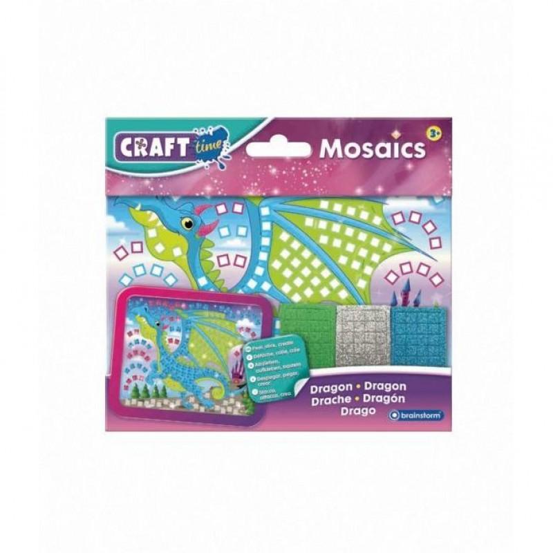 Kit Mozaic Mini Dragon Brainstorm Toys, 5 ani+, 18 x 14 cm, Multicolor 2021 shopu.ro
