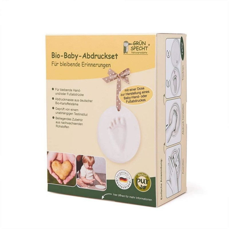 Kit mulaj organic pentru amprenta mana sau picior bebelusi Grunspecht 678-00 2021 shopu.ro