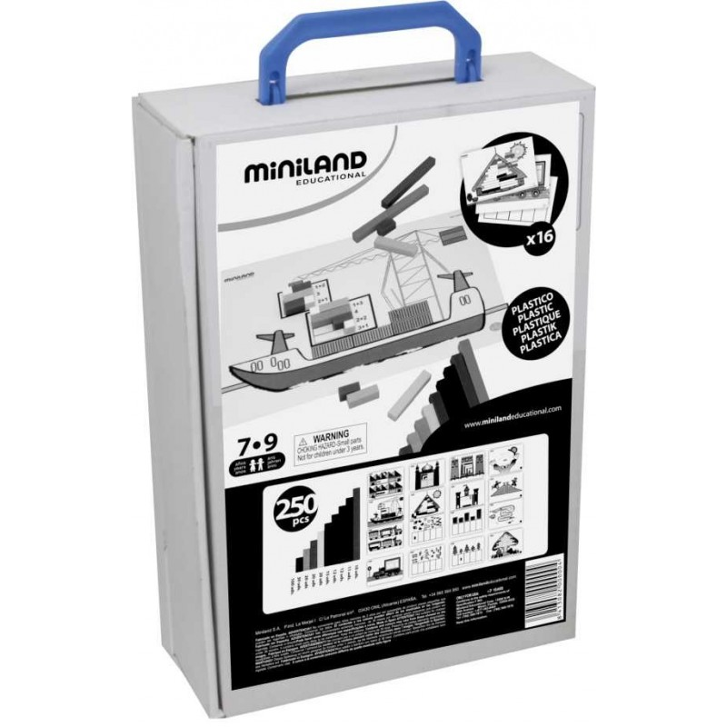 Kit pentru jocuri aritmetice Miniland, 16 carduri ilustrate 2021 shopu.ro