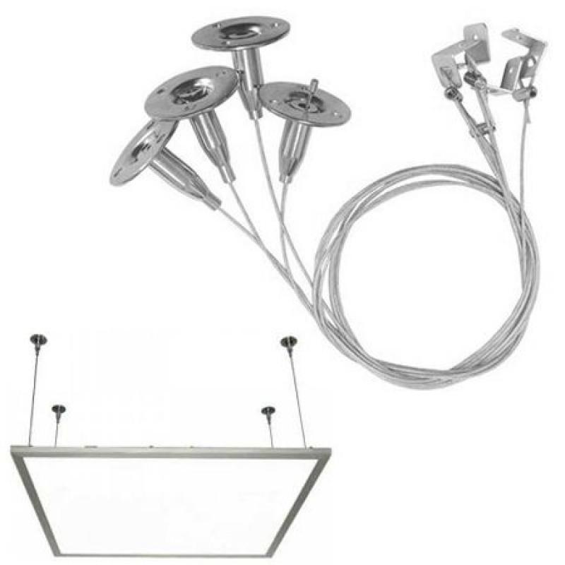 Kit suspendare panou LED, material aluminiu 2021 shopu.ro