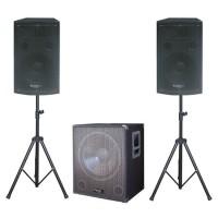 Sistem de sonorizare Ibiza 2.1, subwoofer activ 15 inch, 800W