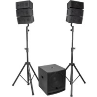 Sistem de sunet, 800 W, functie bluetooth, 2 standuri boxe incluse