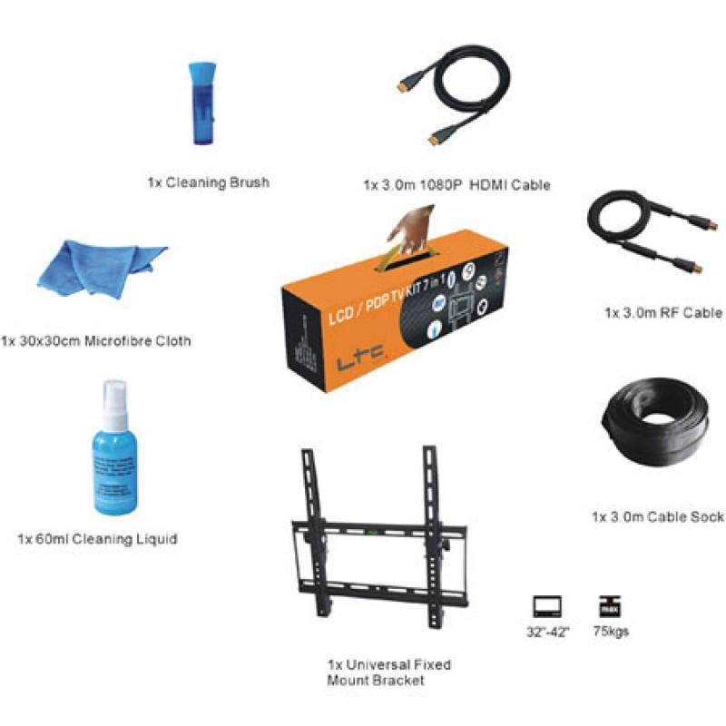 Kit suport TV LED/LCD, 7 piese, standard montare VESA 400 x 400 mm 2021 shopu.ro