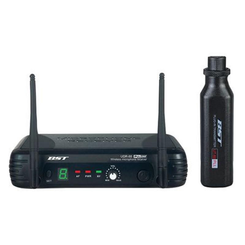 Kit wireless pentru microfon, LED, 1 canal, 8 frecvente, 70 m 2021 shopu.ro