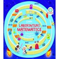 Carte educativa Labirinturi matematice Inmultiri si impartiri Corint, 8 ani+