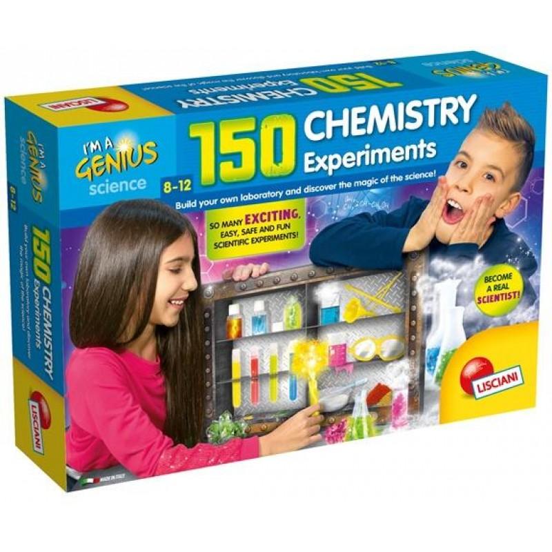 Set de joaca 150 experimente Lisciani, 8 ani+, Laboratorul de chimie 2021 shopu.ro