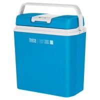 Lada frigorifica Teesa, 24 l, functie de incalzire, alimentare auto si priza, Albastru