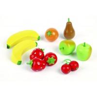 Ladita cu fructe din lemn Tidlo, lemn finisat, 15 x 12 x 6 cm, 3 ani+