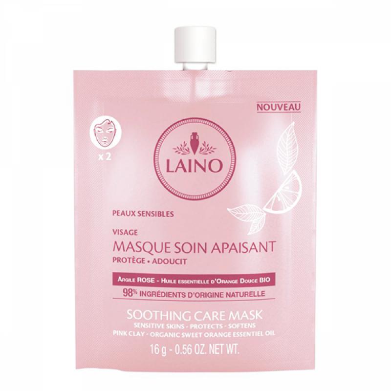 Masca faciala pentru ten sensibil Laino, 16 ml, argila roz 2021 shopu.ro