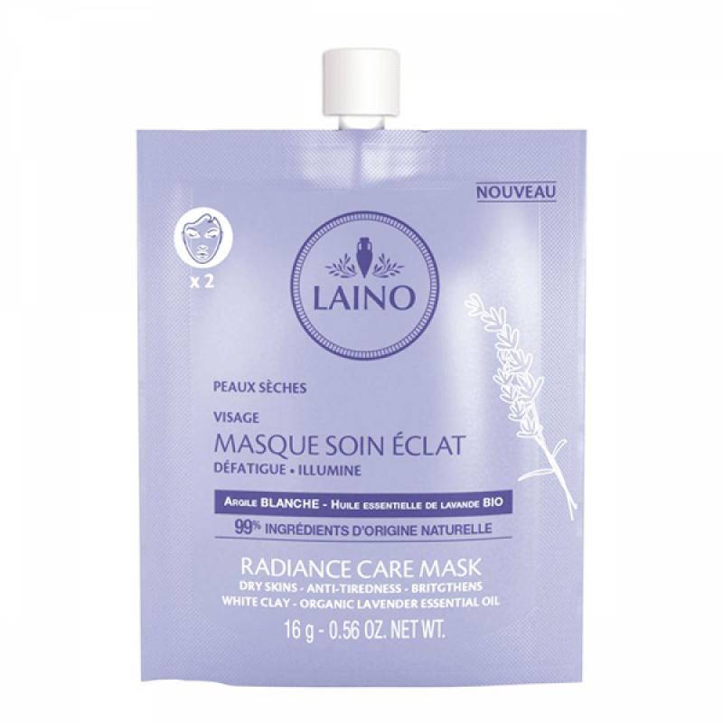 Masca faciala pentru luminozitate Laino, 16 ml, argila alba 2021 shopu.ro