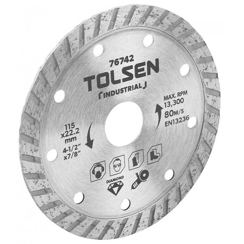 Lama de taiere diamantata Tolsen, 125 x 22.2 mm, max rpm 12250 intrerupt, uz industrial 2021 shopu.ro