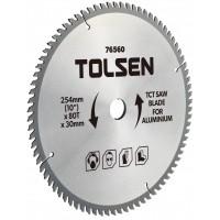 Lama ferastrau TCT pentru aluminiu Tolsen, 254 x 30 x 80 T