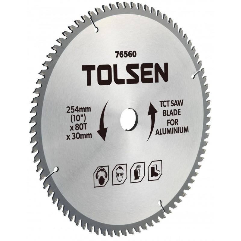 Lama ferastrau TCT pentru aluminiu Tolsen, 254 x 30 x 80 T shopu.ro