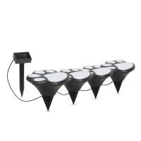 Set 4 lampi solare Garden of Eden, 300 mAh, LED, 36 cm, model amprenta caine