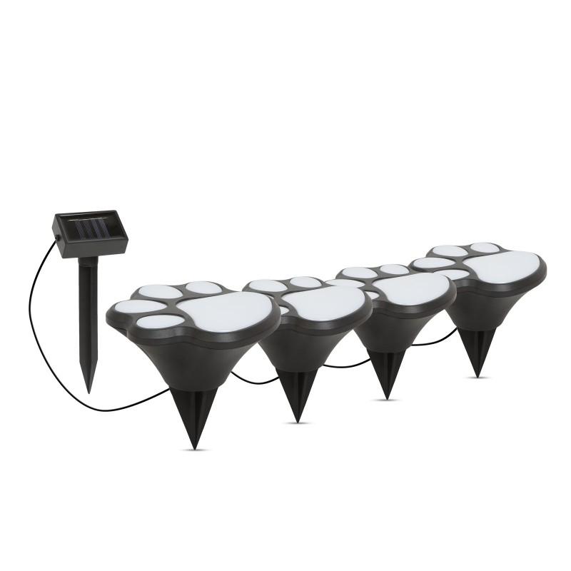 Set 4 lampi solare Garden of Eden, 300 mAh, LED, 36 cm, model amprenta caine shopu.ro