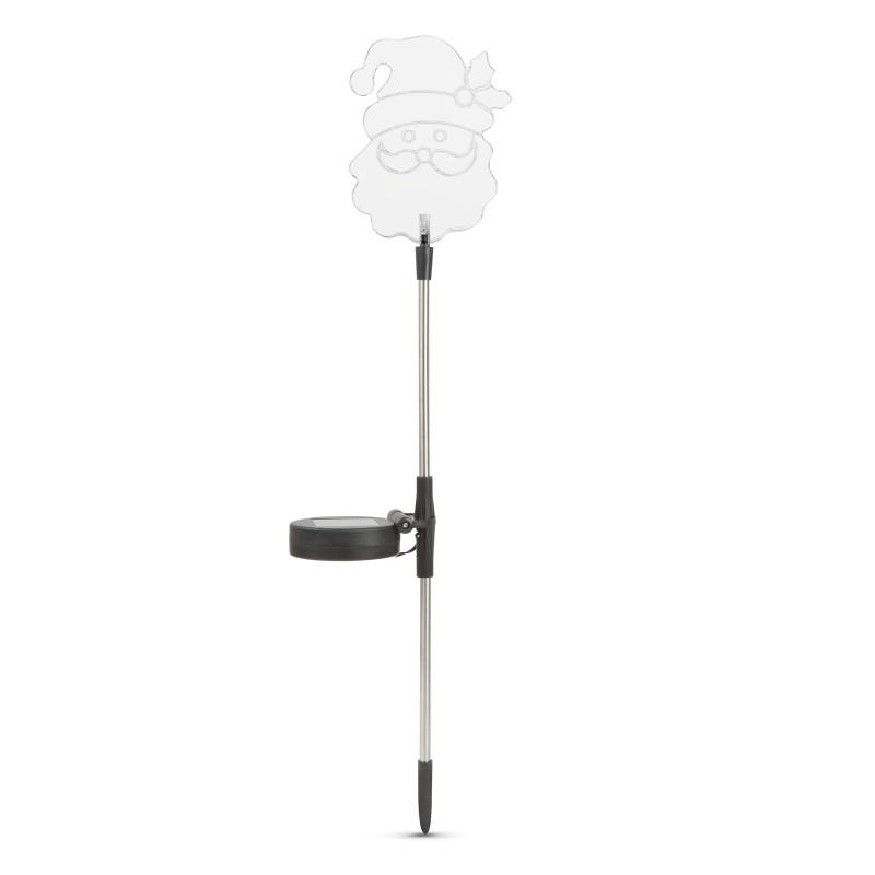 Lampa solara RGB LED Garden of Eden, 200 mAh, 30 cm, pornire automata, model Mos Craciun shopu.ro