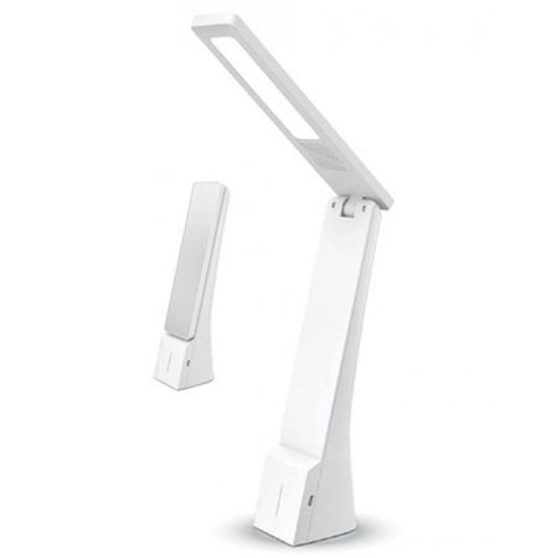 Lampa birou 3 in 1, 4 W, 550 lm, 3000 K/4500 K/6000 K, alb/argintiu shopu.ro