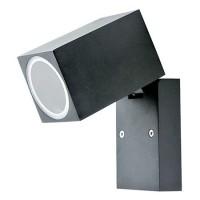 Proiector cu soclu GU10, 35 W, montaj perete, IP44, Negru