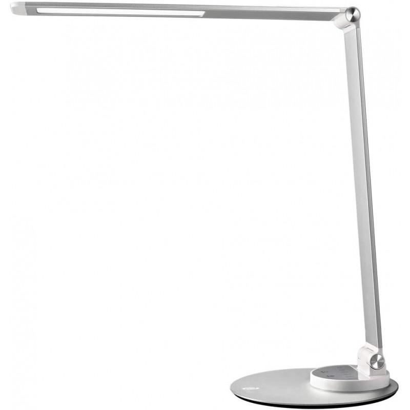 Lampa de birou TaoTronics, 10 W, LED, 550 lm, incarcare USB, 6 moduri iluminare, Argintiu 2021 shopu.ro