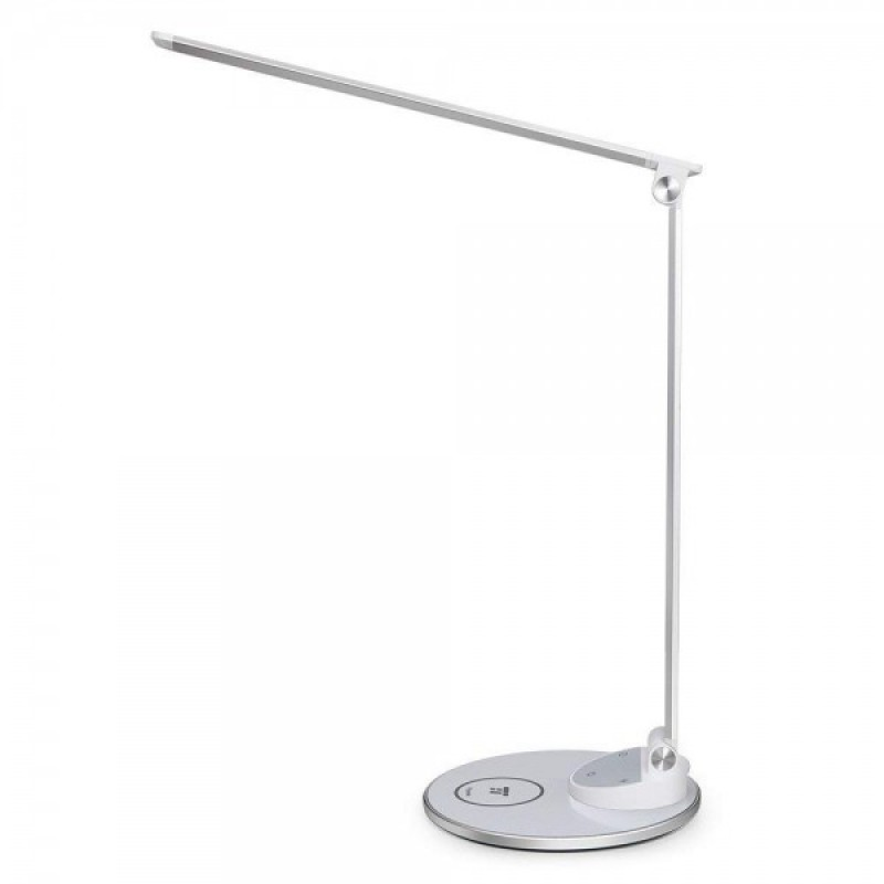 Lampa de birou TaoTronics, USB, 3000-6000K, protectie ochi, control touch, incarcare telefon Wireless/USB 2021 shopu.ro